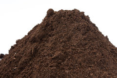 Close view of soil in a pile Stock Image