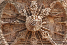 Close view of the spokes of chariot wheel Stock Photos
