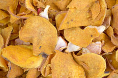 Close view sweet potato chips Stock Photo