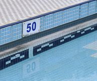 The close view of swimming pool. In hotel stock photography