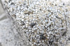 The close view of terrazzo wall Royalty Free Stock Images