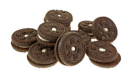 Tiny Chocolate Filled Cookies Close Stock Images