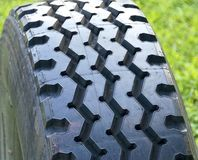 Close view of tire Royalty Free Stock Photo