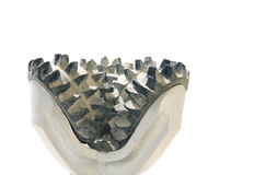 Close view of tooth arrangement in a drilling bit Royalty Free Stock Photos