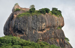 Close view of top of Sigiriya lion rock Stock Image