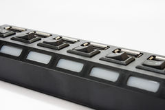 Close view of usb hub Stock Photos