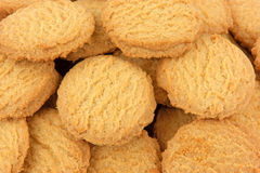 Close view of vanilla wafer cookies Royalty Free Stock Photography