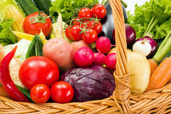 Close view of various summer vegetables Stock Photos
