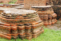 Close view of Votive Stupas ruins at Sarnath,India Stock Photos
