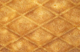 Close view of waffle cookie Royalty Free Stock Image