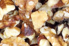 Close view of walnuts Royalty Free Stock Images