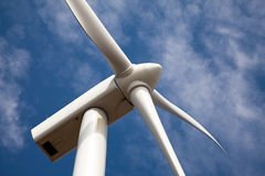 Close view of wind turbine nacelle Royalty Free Stock Photo