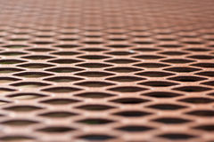 Close view of a wire mesh table top Royalty Free Stock Photos