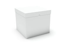 Close white blank box Royalty Free Stock Photo