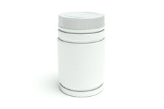 Close white medical bottle Stock Image