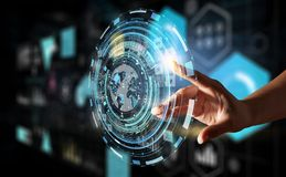 Creating innovative technologies . Mixed media Stock Image
