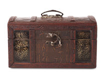 Close wooden chest Royalty Free Stock Photography
