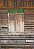 Close Wooden Window. Royalty Free Stock Photo