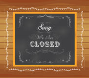 Close written on chalkboard Royalty Free Stock Photography
