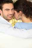 Close young couple Stock Images