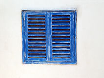 Closed 1. The blue shutters are closed Royalty Free Stock Images