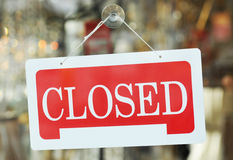Closed Royalty Free Stock Photo
