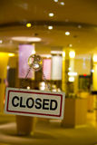 Closed. The store is closed for the day Royalty Free Stock Images