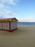 Closed... Closed beach stall on Weymouth beach, Dorset, England Stock Photos