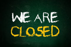 We are closed Royalty Free Stock Image