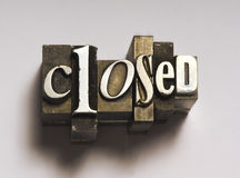 Closed stock photography