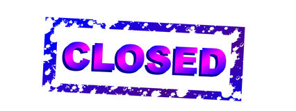Closed Stock Image