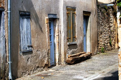Closed. Street detail in old village, France Royalty Free Stock Image