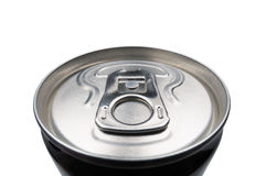 Closed aluminum can for soft drinks Stock Images