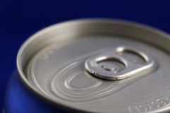 Closed Aluminum Soft Drink Can. Closeup, Shallow DOF stock photos