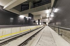 Tram Metro road rail tunnel Stock Photos