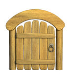 Closed ancient wooden door Stock Images