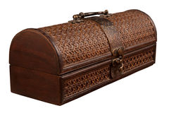 Closed antique chest Royalty Free Stock Image