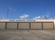 Closed Auto Service Center Stock Photo