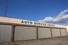 Closed Auto Service Center Stock Images