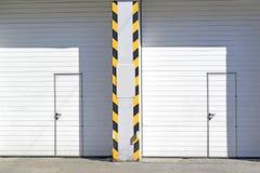 Closed automotive garage doors Stock Image