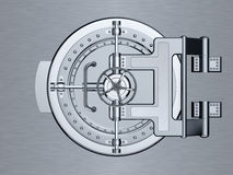 Closed Bank Vault Door Stock Images