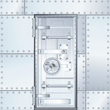 Closed Bank Vault Door. Vector Illustration Stock Image