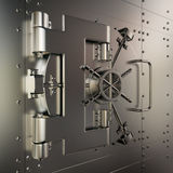 Closed bank vault Stock Photos