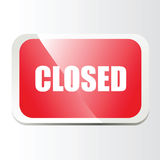 Closed bar. Red Closed bar. Vector EPS Royalty Free Stock Images