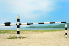 Closed barrier Royalty Free Stock Images