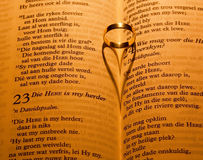 Closed Bible by candle light Royalty Free Stock Images