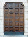 Closed wooden door front view. Closed big wooden door front view Stock Photography