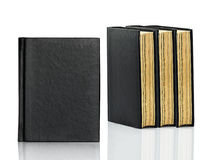 Closed Black Book Is Laying On White Background Stock Photography