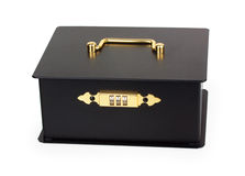 Closed black cash box with a code lock Royalty Free Stock Photography