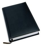 Closed Black Leather Notebook, Isolated Royalty Free Stock Photos